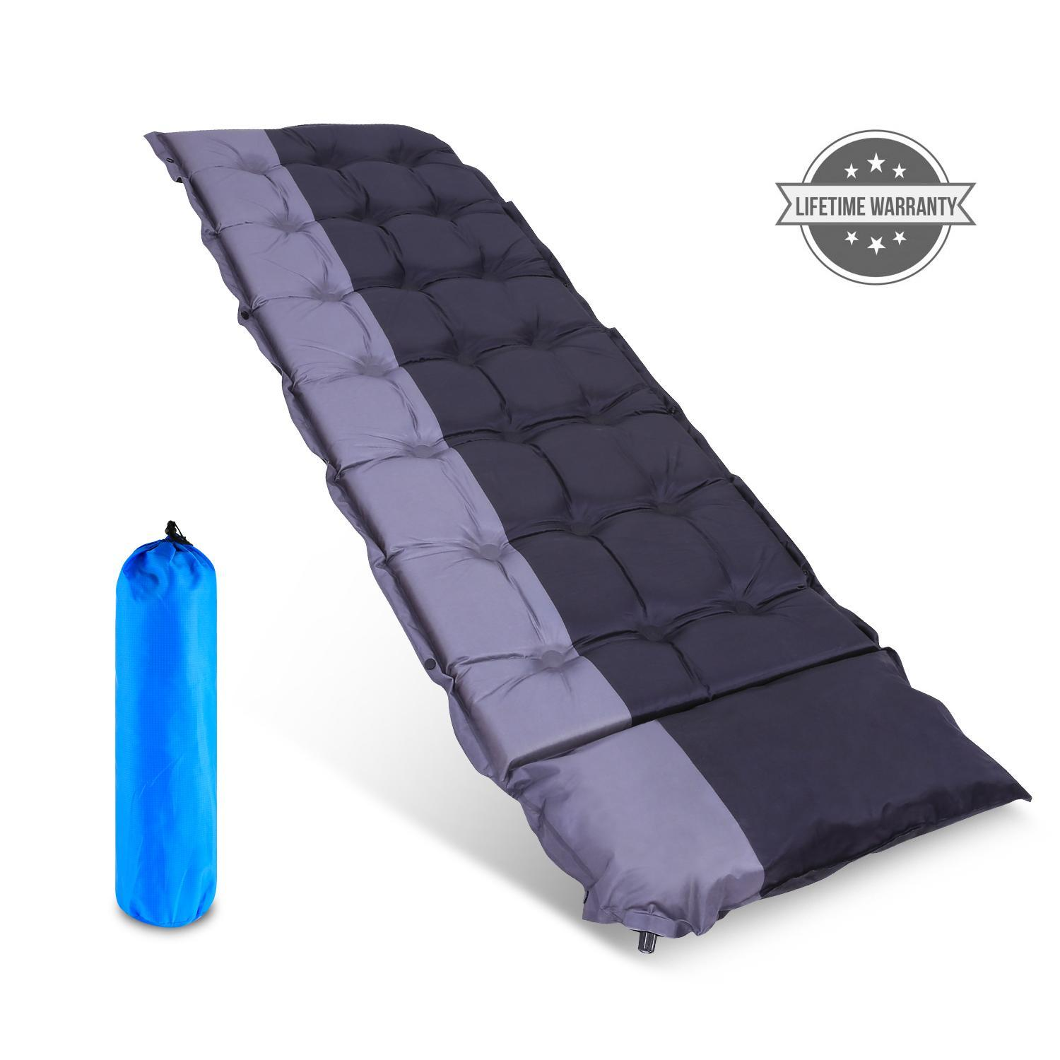 Christmass Sale!!! Self Inflating Sleeping Pad Outdoors with Patches and Carrying Bag Ideal for Camping Hiking Traveling HFON
