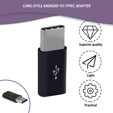 USB 3.1 Type-C to Micro USB Male to Female Mini Portable Type C Converter White