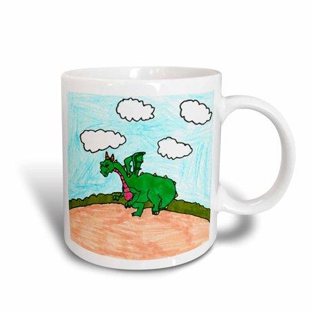 3dRose Dinosaur, Ceramic Mug, 11-ounce - Dinosaur Mug