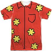 Family Guy Adult Cartoon TV Series Quagmire Costume Adult 2-Sided Print T-Shirt