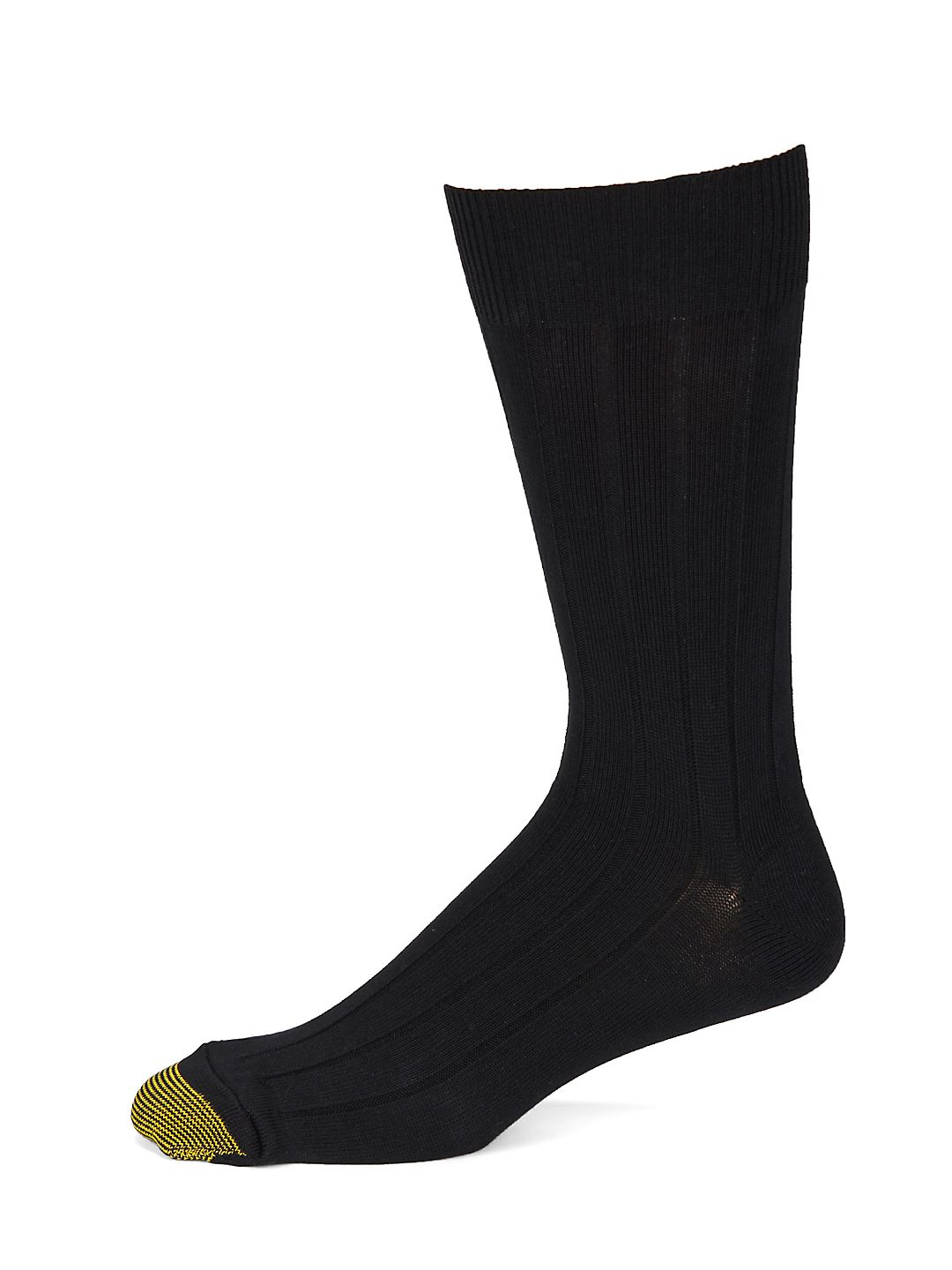 Gold Toe Men's Hampton Premium Cottton Mid-Weight Ribbed Crew Socks, 3 Pairs