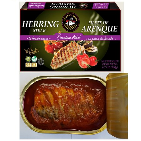 - (3 Pack) Grilled Catch Herring steak fillet in tomato sauce 6.7 oz