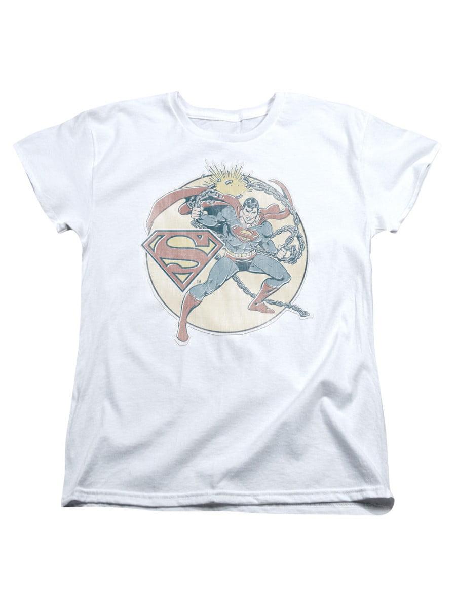 Trevco Superman Dc Comics Superhero Retro Iron On Chain Break