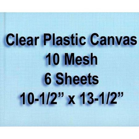 - 10-Mesh Clear Plastic Canvas Sheets, Set of 6