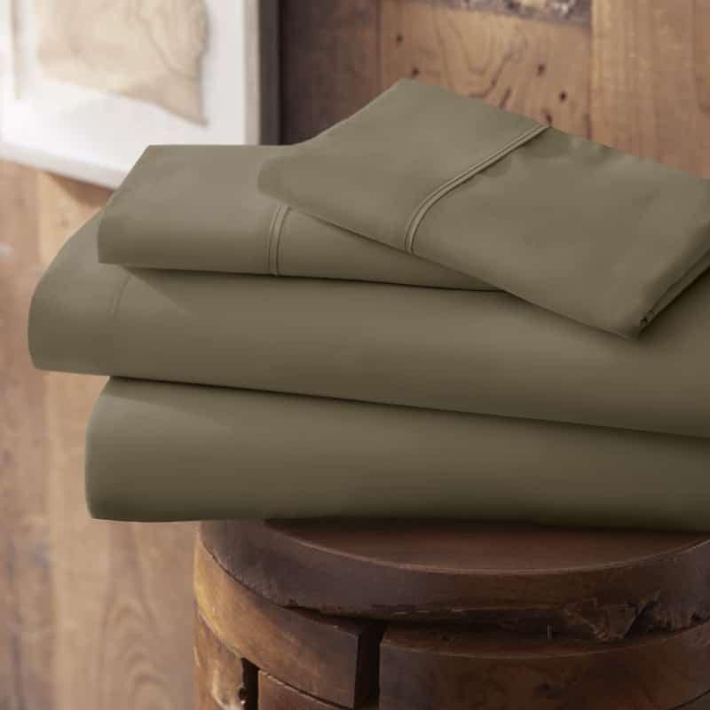 Merit Linens Modern Luxury Soft 4 Piece Deep Pocket Bed Sheet Set - Twin - Taupe