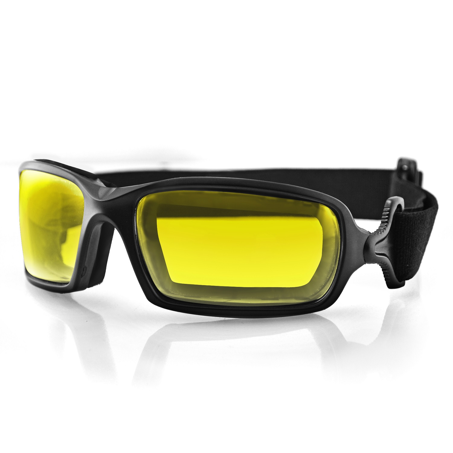 Bobster Fuel Biker Goggle, Anti-Fog Yellow Photochromic Lens