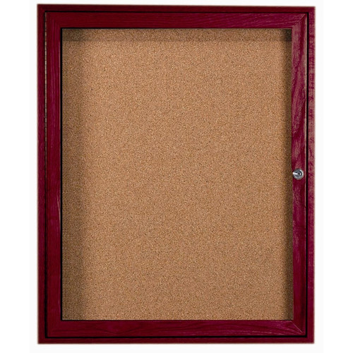 AARCO Enclosed Wall Mounted Bulletin Board