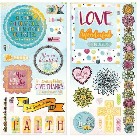 - Faith Adhesive Chipboard Accents 6