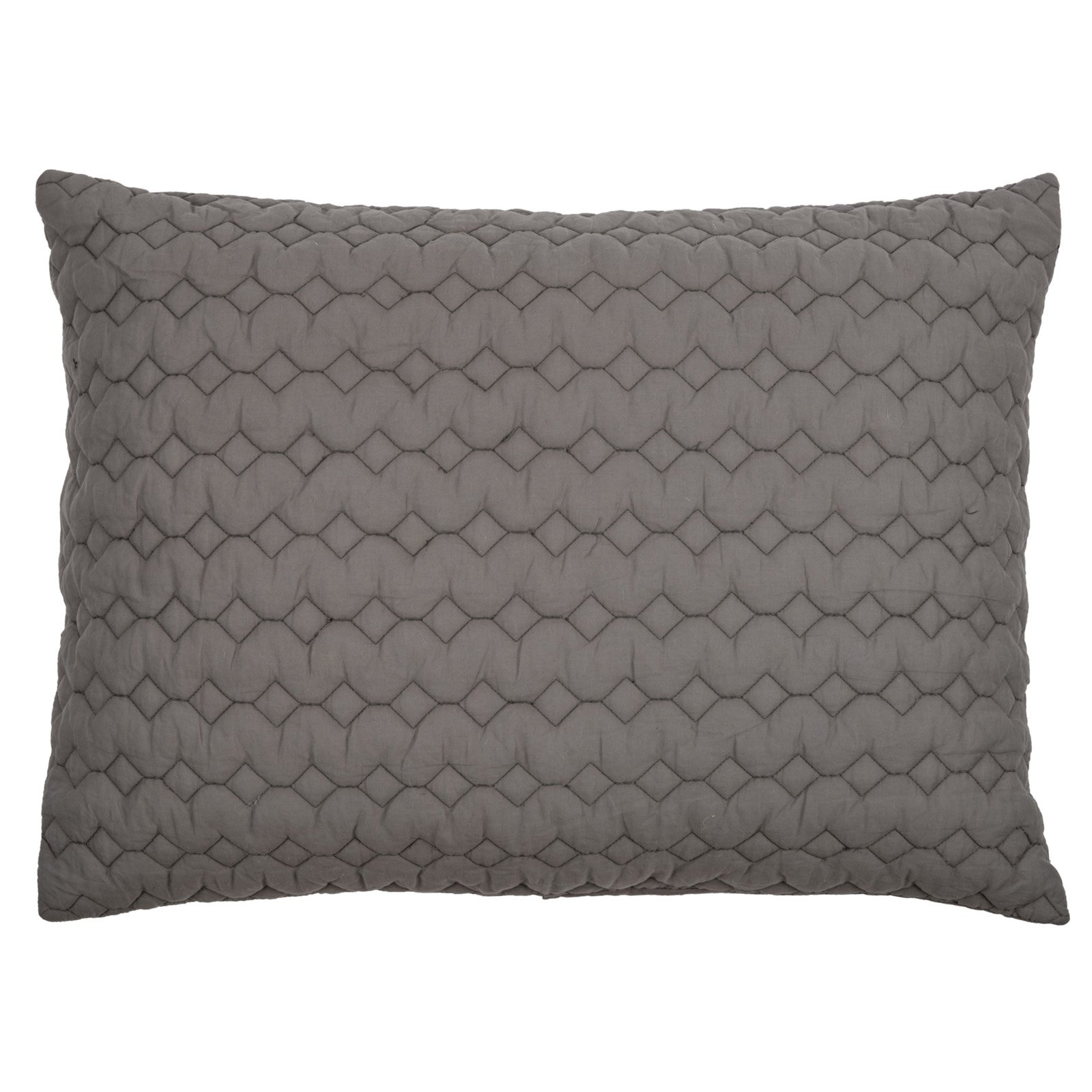 Rizzy Home 1 Piece Quilight In Gray - (King Sham)