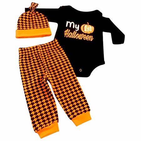 Unique Baby Unisex My 1st Halloween Layette Set (18 Months)](Baby First Halloween)