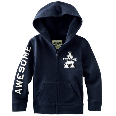 Carters OshKosh Toddler Clothing Outfit Girls Awesome Navy French Terry Hoodie