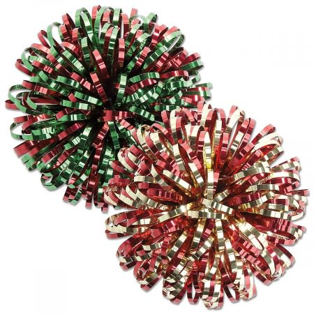 - Christmas Fireworks Bows- Set of 6 Holiday Gift Wrp Bows