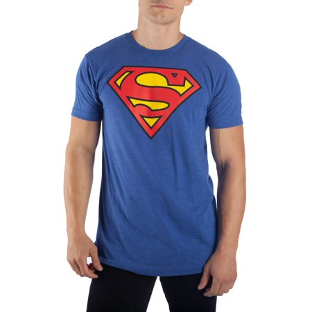 Men's Royal Blue Superman Logo Tee, Up to 3XL Tall and 4XL Big for $<!---->