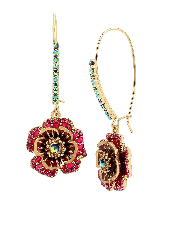 Garden of Excess Rose Goldtone Drop Earrings