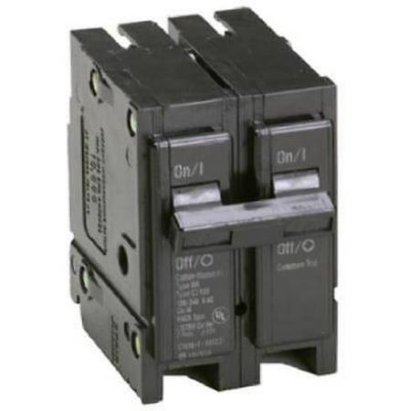 """Eaton 60A Double Pole Interchangeable Circuit Breaker 2"""" Wide Fullsize"""