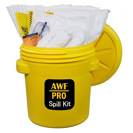 Overpack Spill (20 Gallon Oil Only Spill Kit, Pro Grade, 50 PC: Overpack Drum, 35 Heavy Duty Pads 15