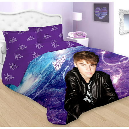 Justin Bieber Concert Purple Twin Bed Comforter Sham Set