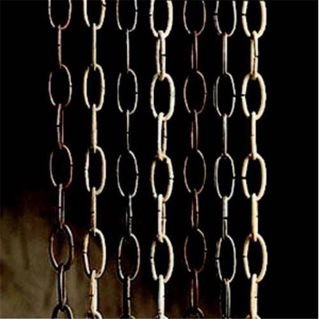 Kichler 4927TZG Accessory 36 inch Solid Brass Outdoor Lighting Chain in Tannery Bronze with Gold Accent