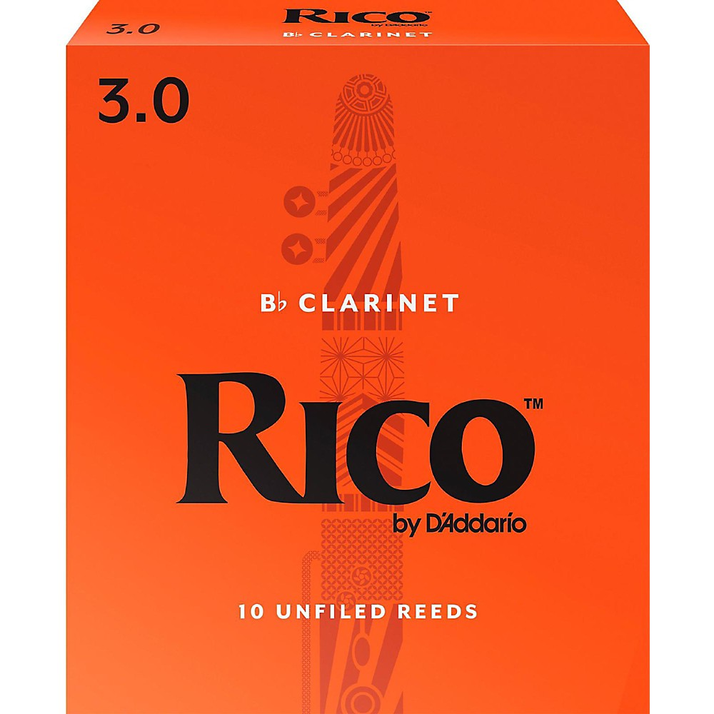 Rico Bb Clarinet Reeds Box of 10 (Number 3)