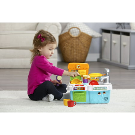 LeapFrog Scrub 'n Play Smart Sink, Electronic Role-Play Toy for Kids