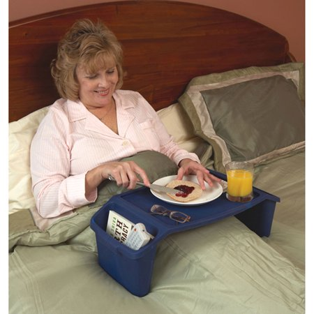 Maddak Plastic Bed Tray With Side - Red Twin Tray