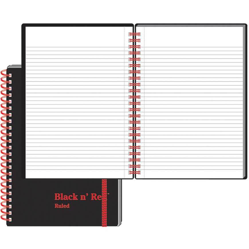 Black n' Red, JDKC67009, Wirebound Semi - rigid Cover Ruled Notebook - A5, 1 Each