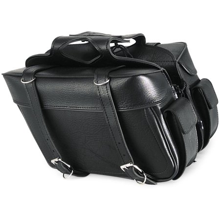 All American Rider 9086P Box Style Slant Saddlebag - Plain - X-Large - 21in.L x 6in.W x 11in.H