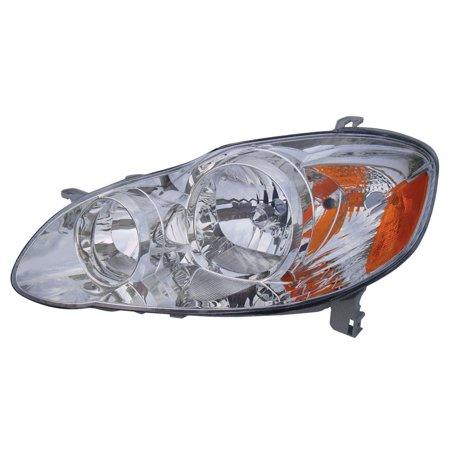 KarParts360: For 2005 2006 2007 2008 TOYOTA COROLLA Head Light Assembly Driver (Left) Side w/Bulbs Replaces TO2502160 Toyota Corolla Left Headlight