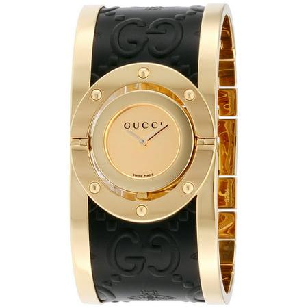 187780d7454 Gucci - Gucci Twirl Gold Dial Ladies Two Tone Bangle Watch YA112444 -  Walmart.com