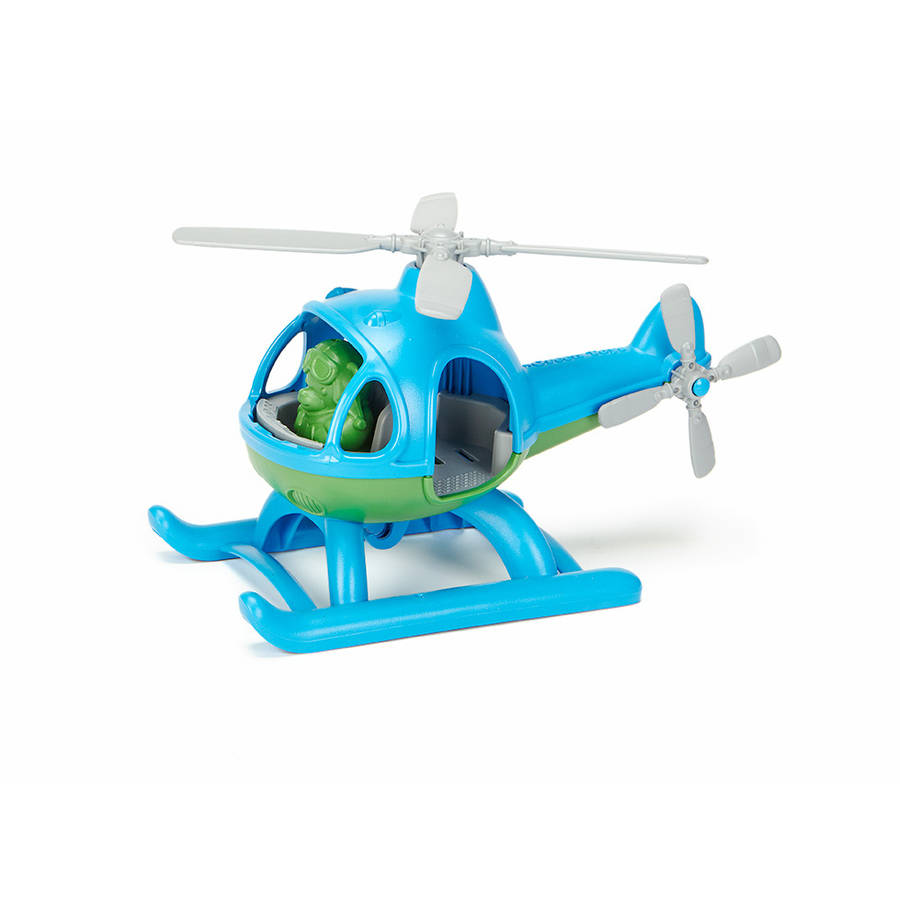 Green Toys Blue and Green Plastic Helicopter by Green Toys Incorporated