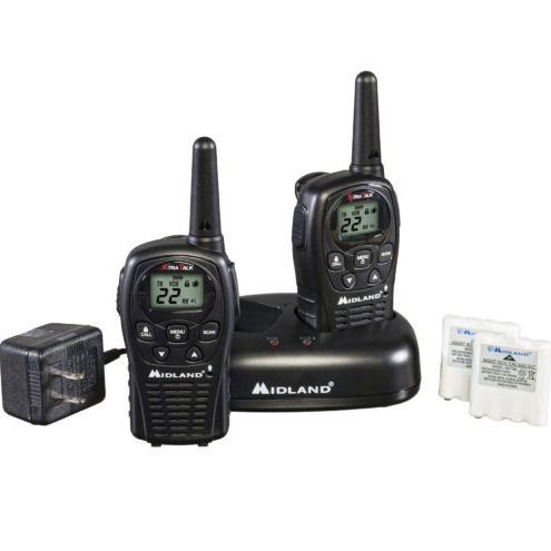 Midland LXT500VP3 22-Channel 2-Way Radios with 24-Mile Range by
