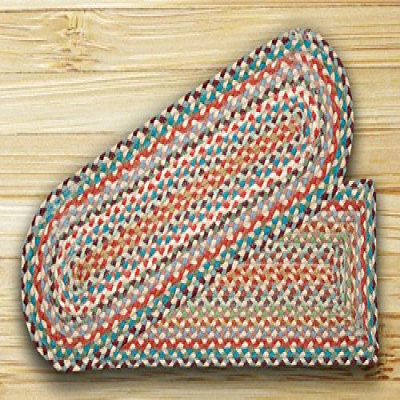 "Earth Rugs 39-328 Rectangle Stair Tread, 8.25 by 27"", Multicolor"