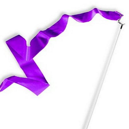 Purple Gymnastics Ribbon Wand (Cheap Ribbon Wands)