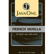 Java One, French Vanilla 14 Single Cup Coffee Pods, 6 Ct
