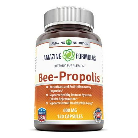 Amazing Formulas Bee Propolis 600 Mg 120 Capsules (Zi Xiu Tang Bee Pollen Capsules)