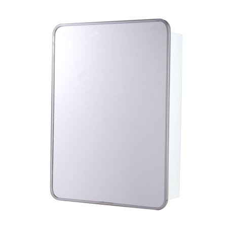 Ketcham 16W x 28H in. Single Door Surface Mount Medicine Cabinet - Rounded Corners