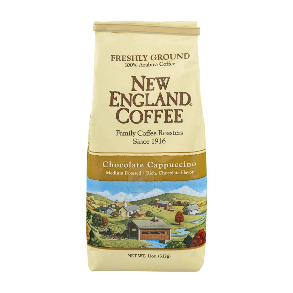 (3 Pack) New England Coffee Chocolate Cappuccino Medium Roasted Freshly Ground, 11.0 OZ