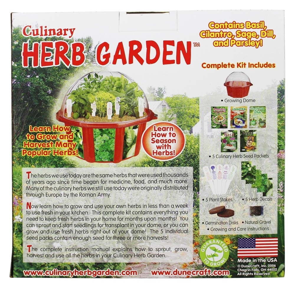 DuneCraft Culinary Herb Garden Kit   Walmart.com