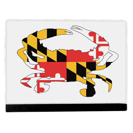 Maryland State Flag In Form Of Blue Crab Apple Ipad Pro 9 7 Inch Leather Flip Tablet Case