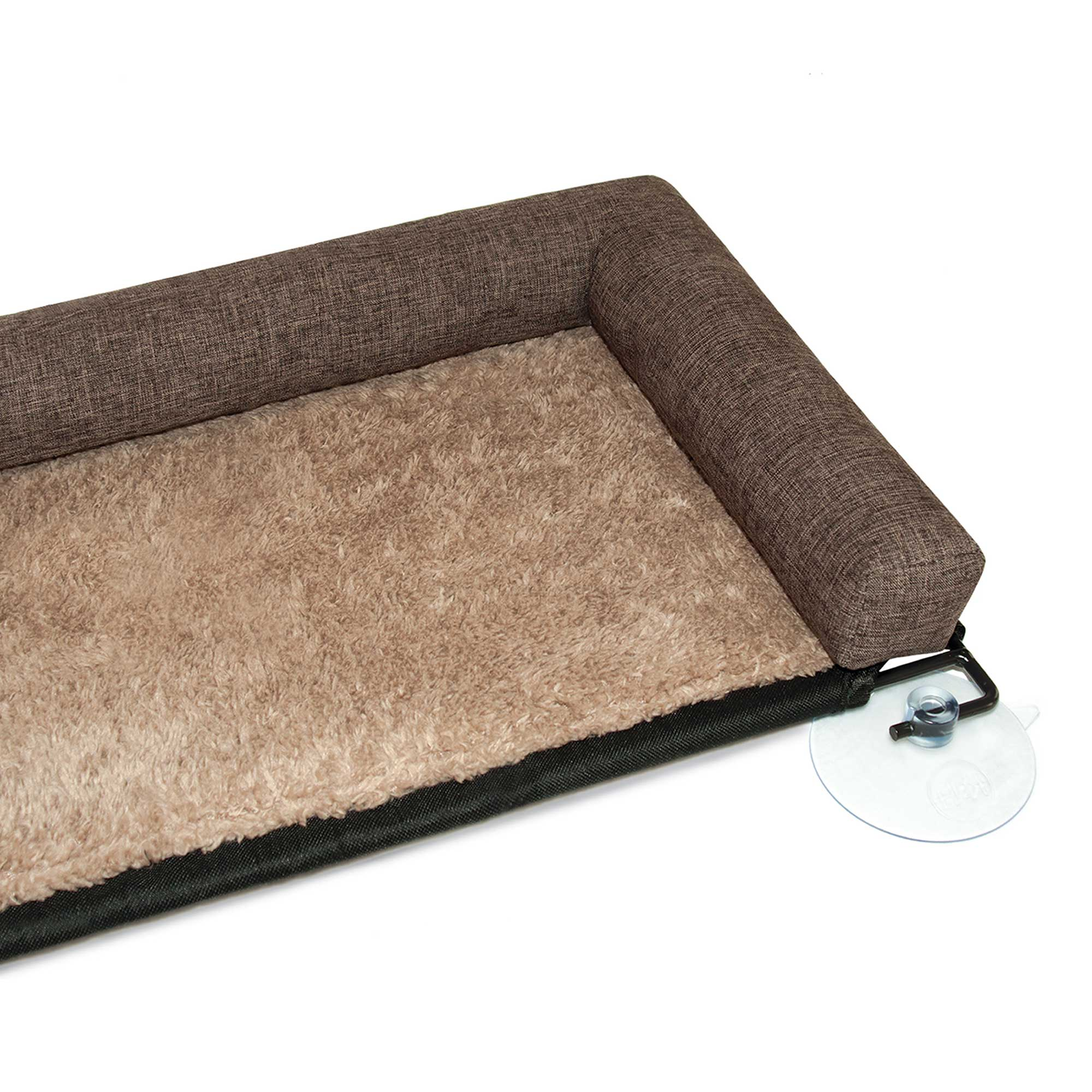 """EZ Mount Kitty Sill Deluxe with Bolster Chocolate 12"""" x 23"""""""