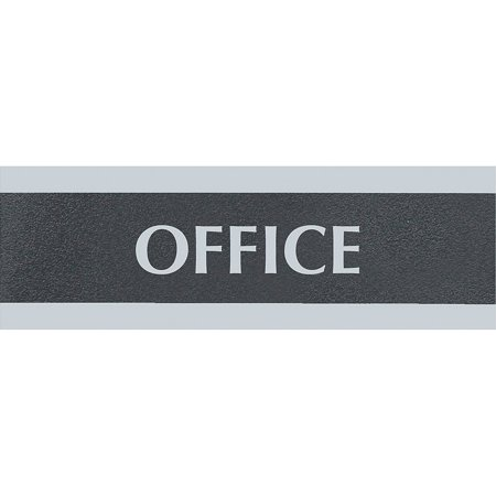 HeadLine, USS4762, Century Series Office Sign, 1 Each, Black -