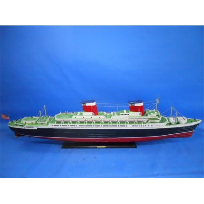 Handcrafted Model Ships SSUS50 50 in. SS United States Limited Model Cruise Ship by Handcrafted Model Ships
