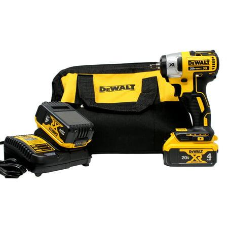 DeWalt 20V MAX XR 3/8u0022 Impact Wrench (Hog Ring) (4.0Ah) w/ 2 Batteries and Bag