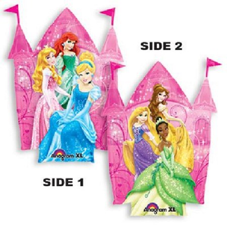 "XL 35"" Disney Princess Castle Super Shape Mylar Foil Balloon Party Decoration"
