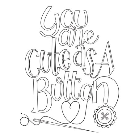 Cute As a Button by Tammy Tutterow Stamp Set, Spellbinders stamps are perfect for cards, tags, scrapbooking and more By Spellbinders