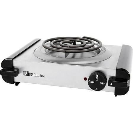 304 Stainless Steel Burners - Elite Cuisine ESB-301SS Stainless Steel Electric Burner