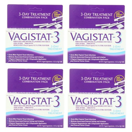 Vagistat 3 Day Treatment, Cures Most Yeast Infections, Relieves Itching and Irritation with External Vulvar Cream (Pack of 3) + Eyebrow