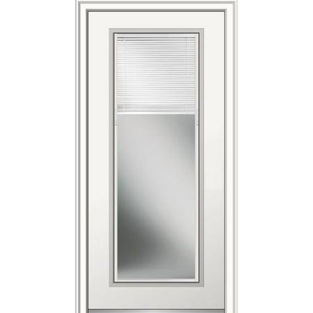 Front Entry Door - Verona Home Design Internal Grilles Glass Primed Prehung Front Entry Door