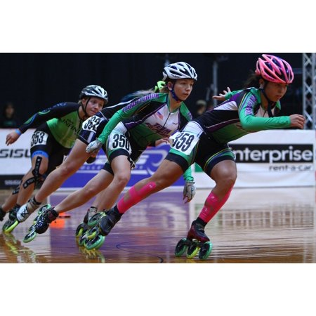 LAMINATED POSTER Fitness Inline Speed Skating Roller Speed Skating Poster Print 24 x 36 ()