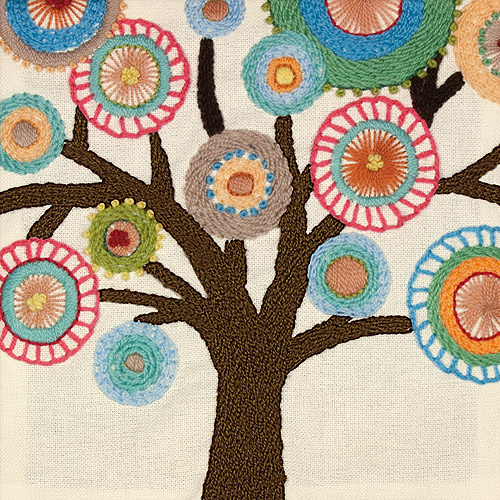"Dimensions Handmade Collection Tree Crewel Embroidery Kit, 10"" x 10"""